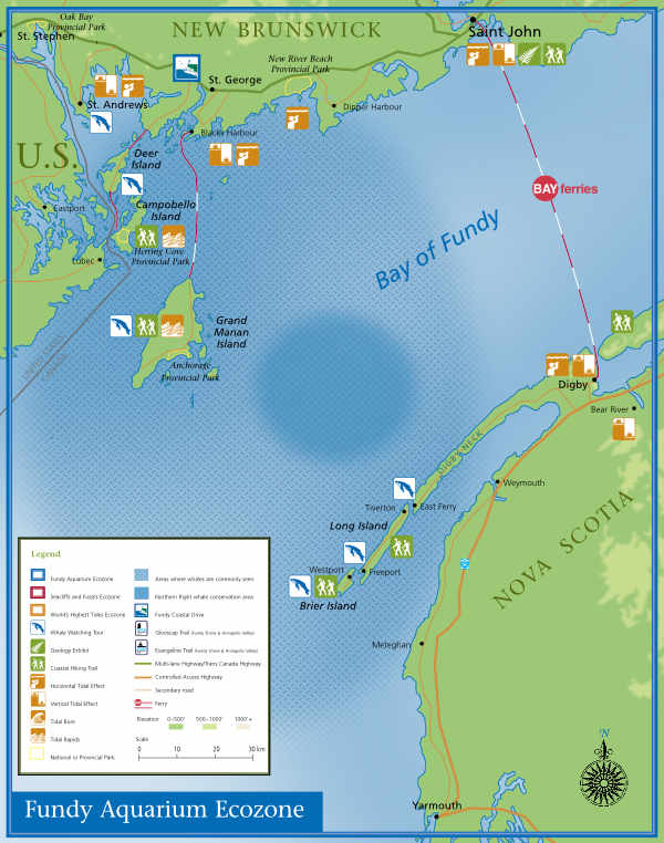 Fundy aquarium ecozone map