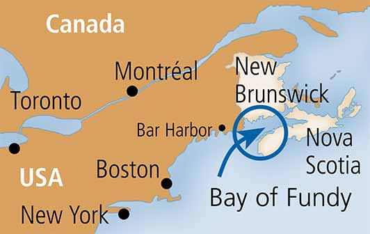 Site map - Bay of Fundy